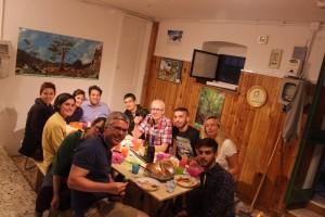 La cucina e i volontari