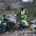 Volontari di Inachis e marcatura dei sentieri